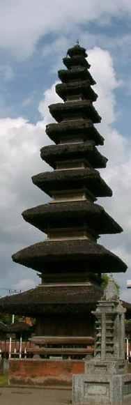 A  hindust temple in Lombok island